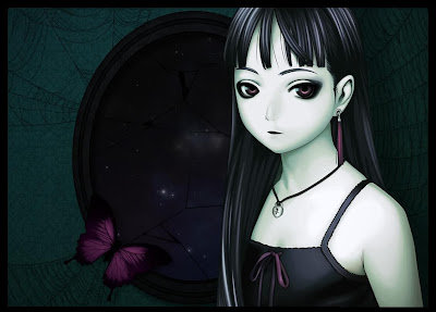 emo Anime Cute Girl Backgroun Wallpaper