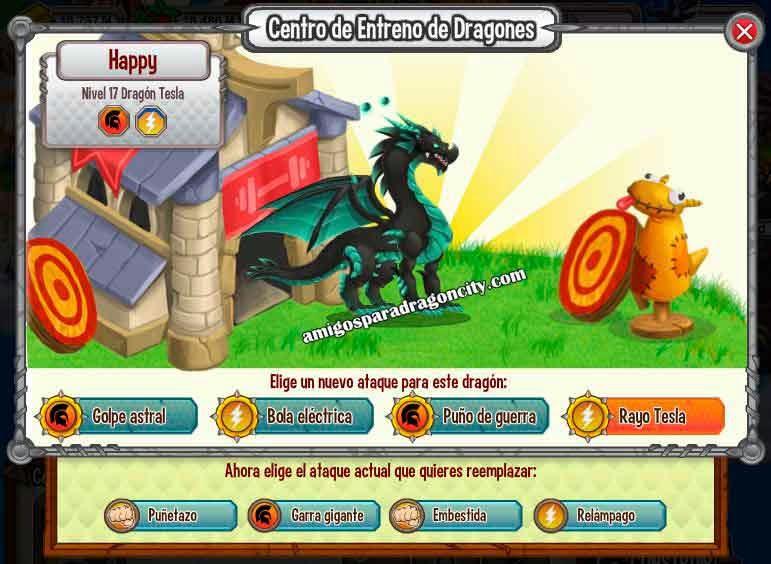 imagen de los ataques del dragon tesla