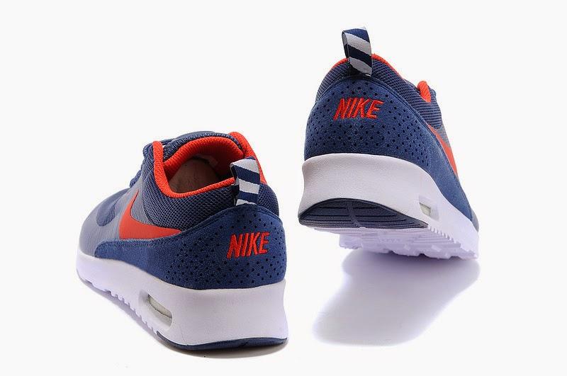 Nike Free Powerlines  II Mens Dark Blue Red Shoes    6299