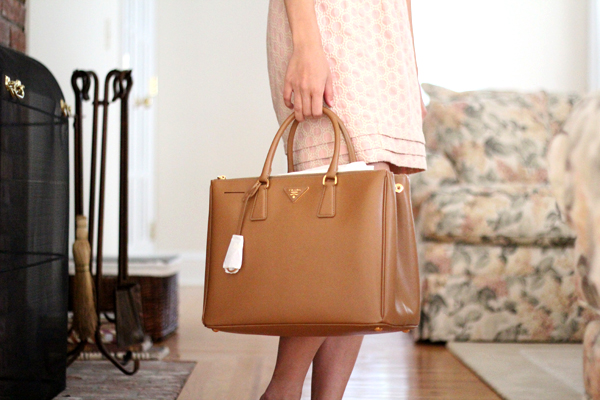 prada purses pink - Camel Bag Hunt Part III : Prada Saffiano Lux Tote - Fast Food ...