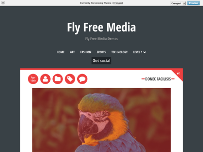 Crangasi WordPress Theme
