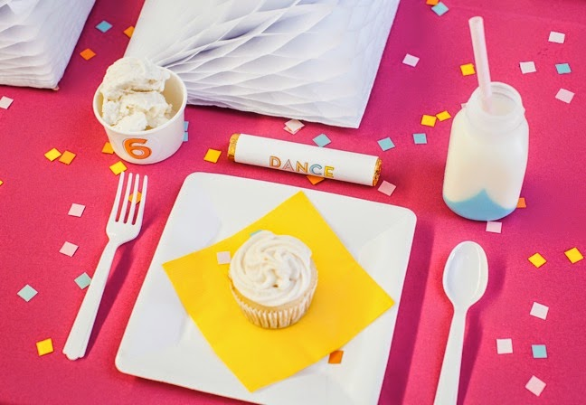 Retro Modern 6th Birthday Party and Dessert Table | Shauna Young (pic: Sydnee Bickett)