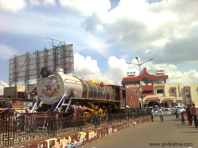 train outside Patna Junction