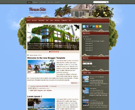 HouseSite Blogger Template
