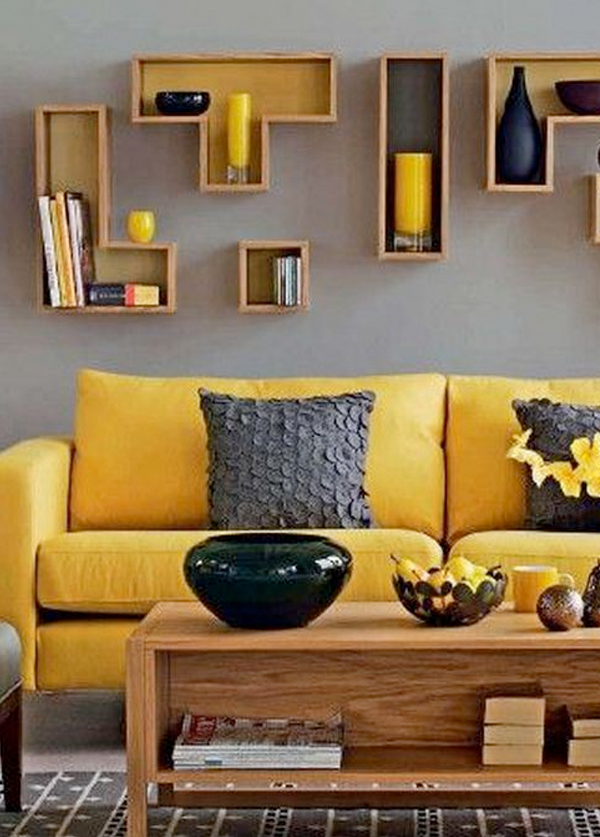 Kleuren geel woonkamer for Interieur geel