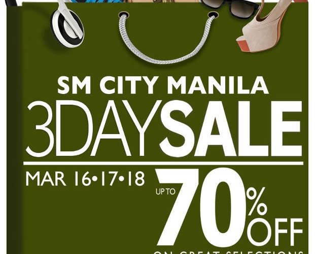 [Sale Alert] SM City Manila 3-Day Sale on March 16, 17, & 18!