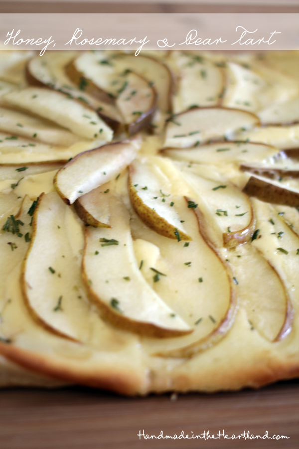 Honey, Rosemary & Pear Tart