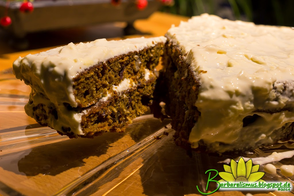 Barbarelismus...: Carrot Cake with Maple Cream Cheese Frosting