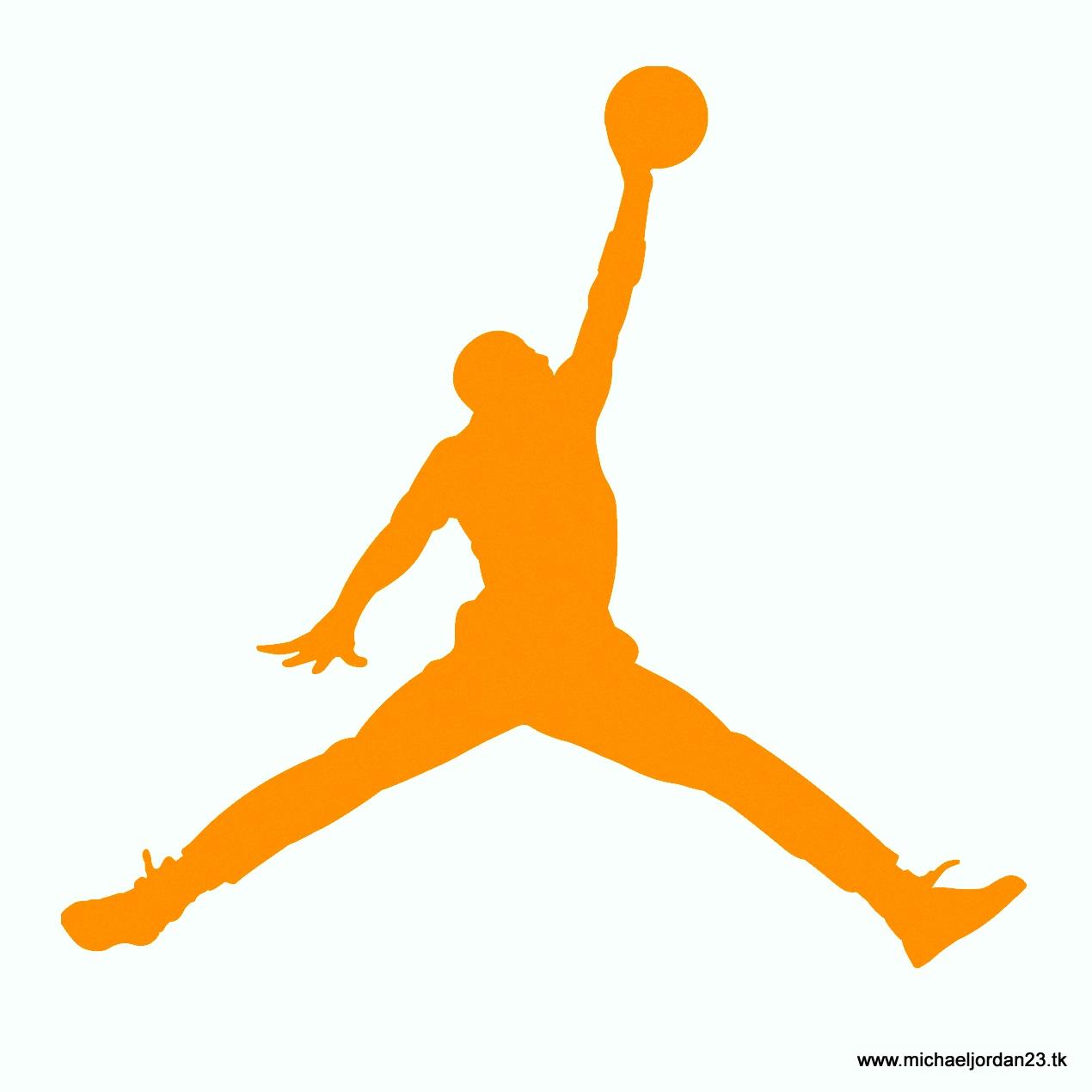 orange jordan logo lig...