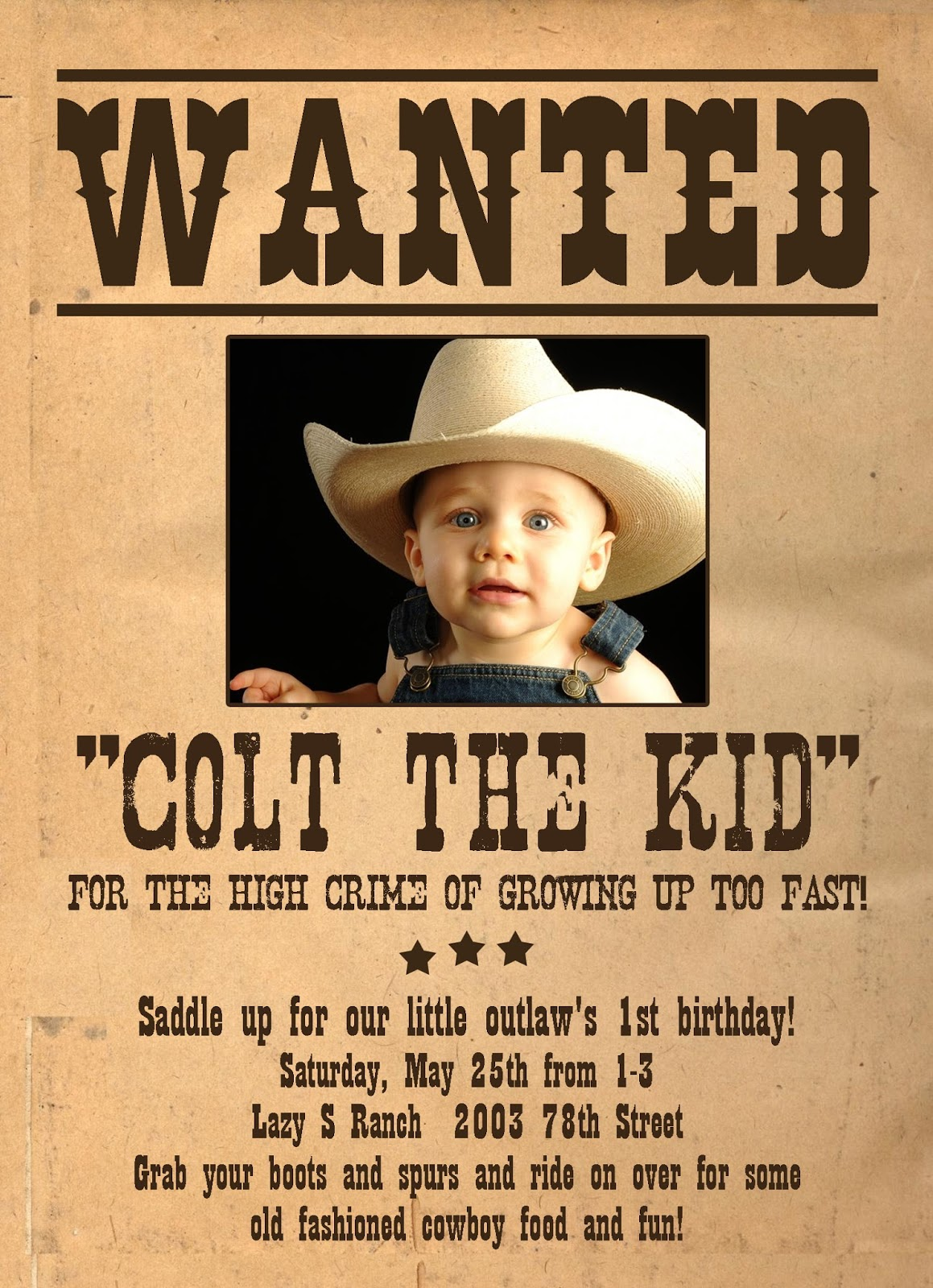 wanted birthday invitation templates – Sample Wanted Poster