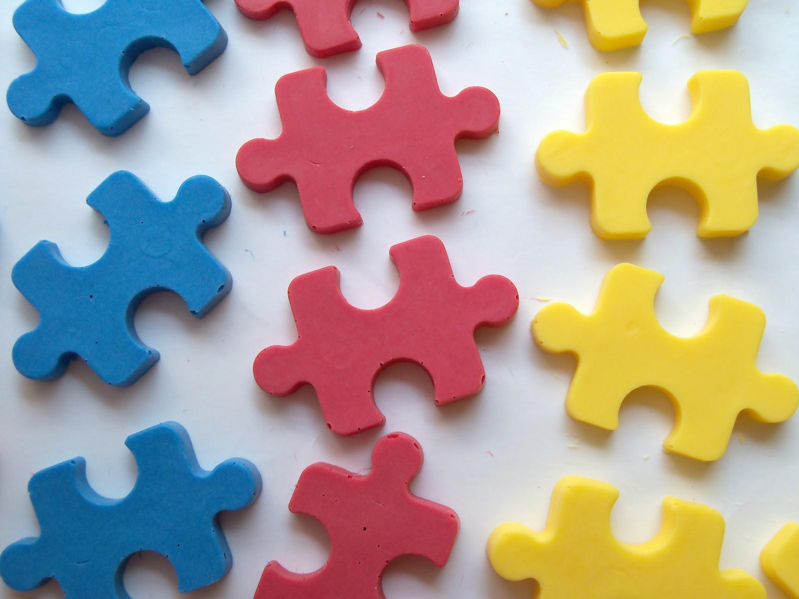 Autism Awareness Puzzle Cake