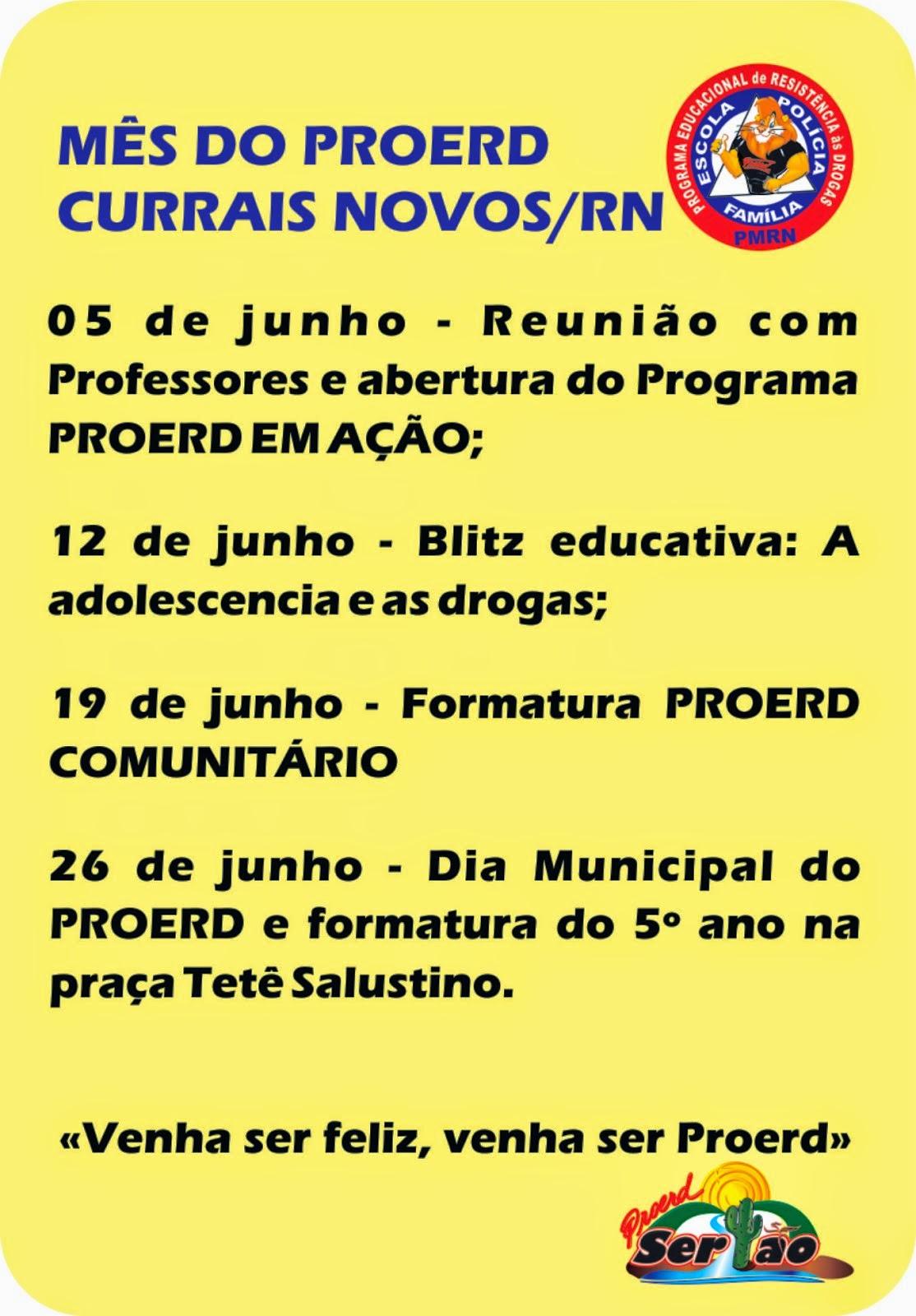 MÊS DO PROERD CURRAIS NOVOS