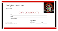 Gift Certificate for FireFighterShields.com