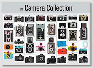 Imagens pixel de equipamentos fotográficos