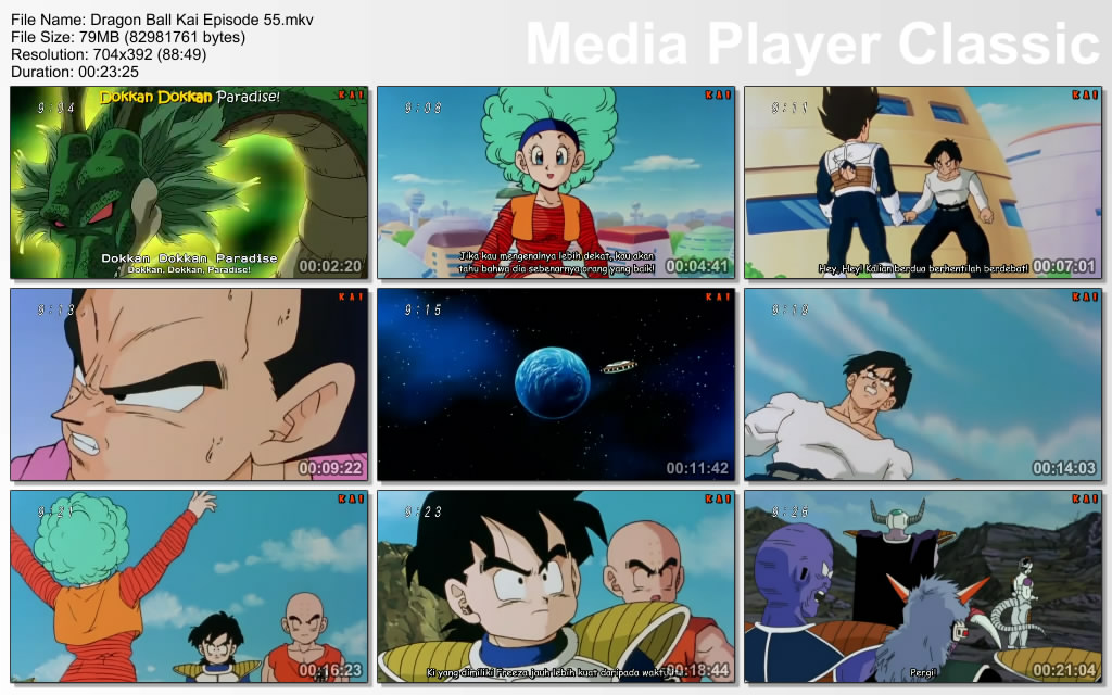 """Pada Film / Anime Dragon Ball Kai Episode 55 """"Itu Planet Bumi, Ayah"""