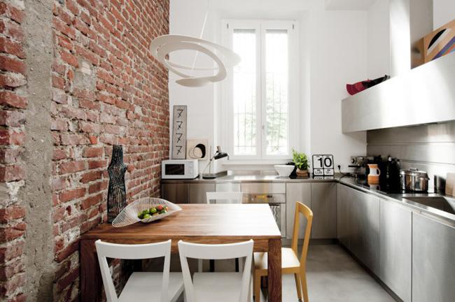 cocina espacio pequeño loft 30m2