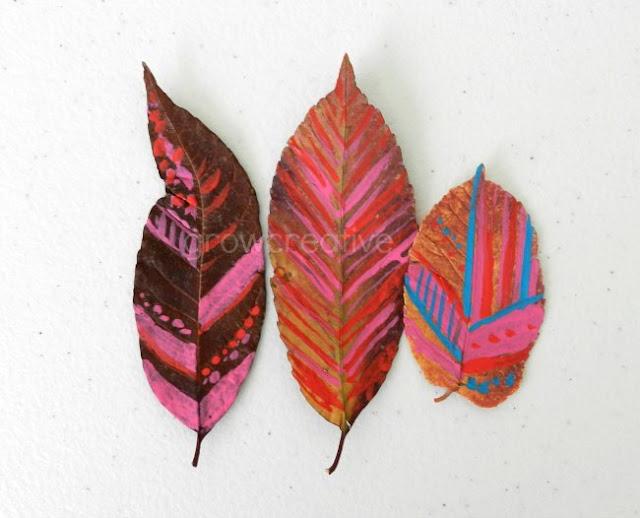 Painted Leaves- Tribal Designs: Grow Creative