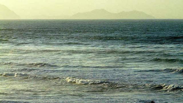el mar y las olas desde sopela