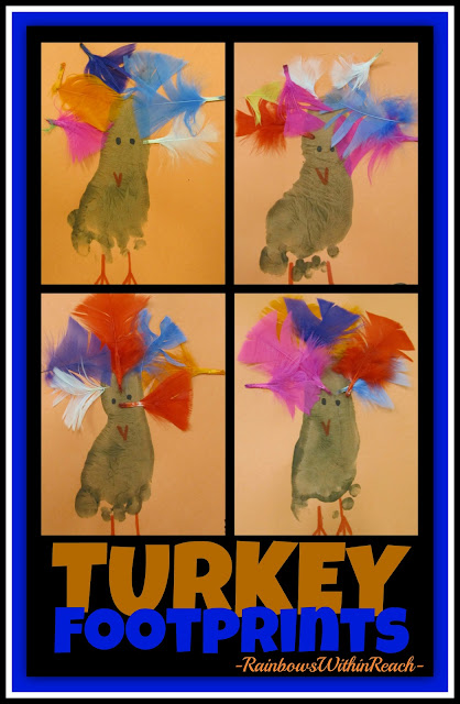 photo of: Turkeys Painted from Footprints with Feathers via RainbowsWithinReach