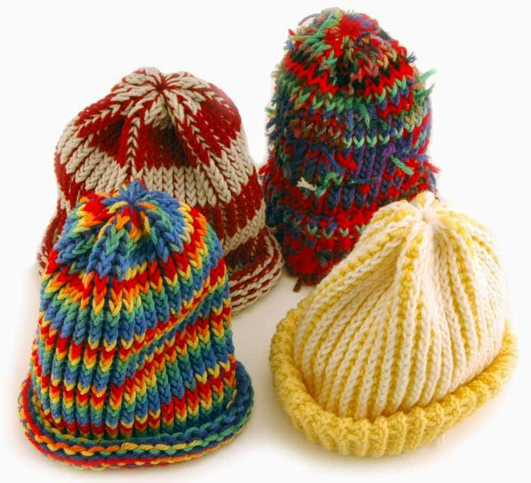 The Knifty Knitter: Easy Peasy Rolled Brim Hat for Kids