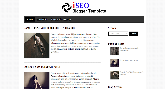 Fast Loading Blogger Templates