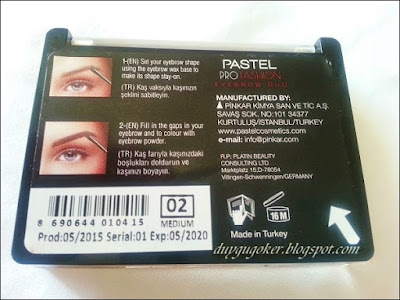 PASTEL ProFashion Eyebrow Duo Kaş Farı (02 Medium)