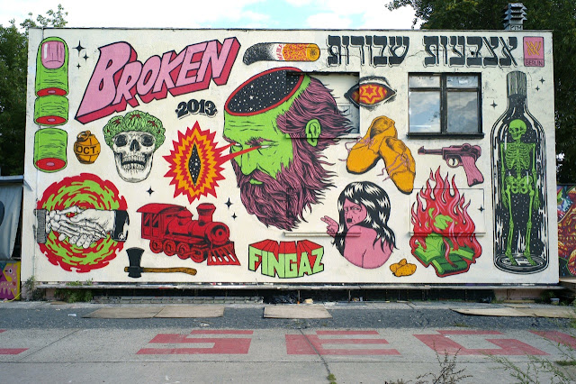 Holocaust Inspired Street Art Mural By Israeli Crew Broken Fingaz On The Streets Of Berlin, Germany 1