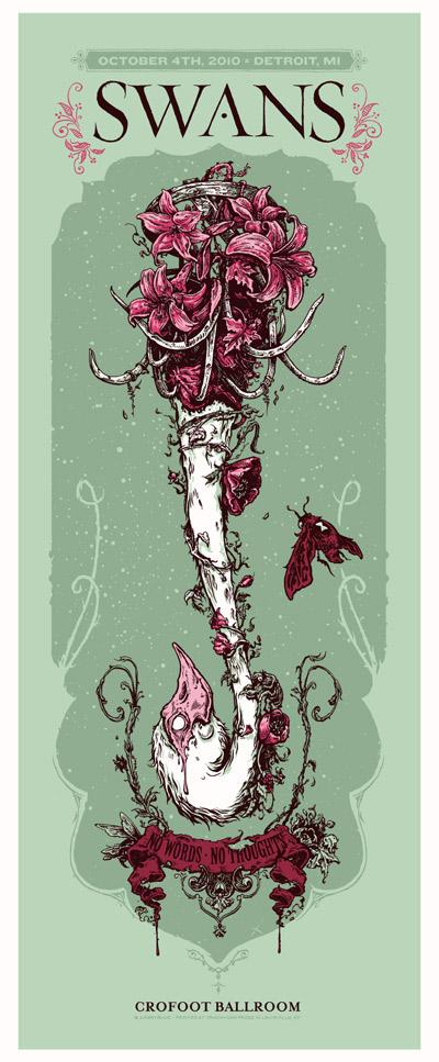 Angryblue Illustrator Justin Kamerer Gig Poster