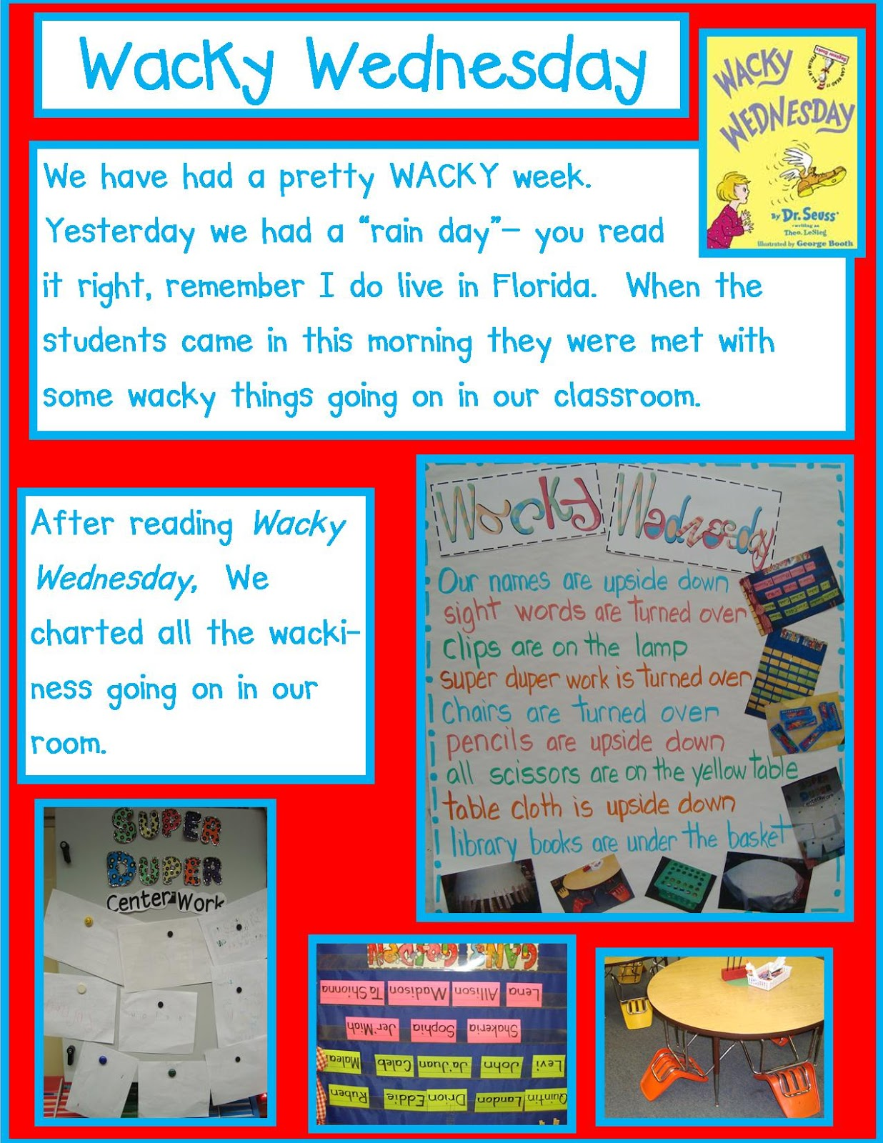 Wacky Wednesday Dr. Seuss Golden Gang Kindergart...