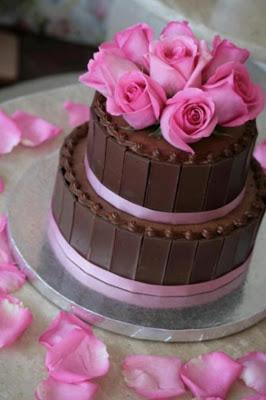 Tarta chocolate y rosas
