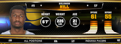 NBA 2K13 Pacers Solomon Hill - Round 1 23rd Overall