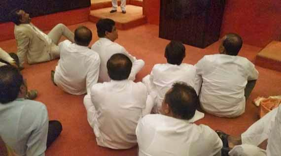 UPFA Members protest in parliament