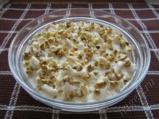 Салат из курицы с орехами рецепт с очень вкусный