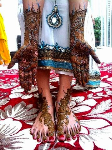 Celebrity Mehndi Designs and Henna Designs 2014