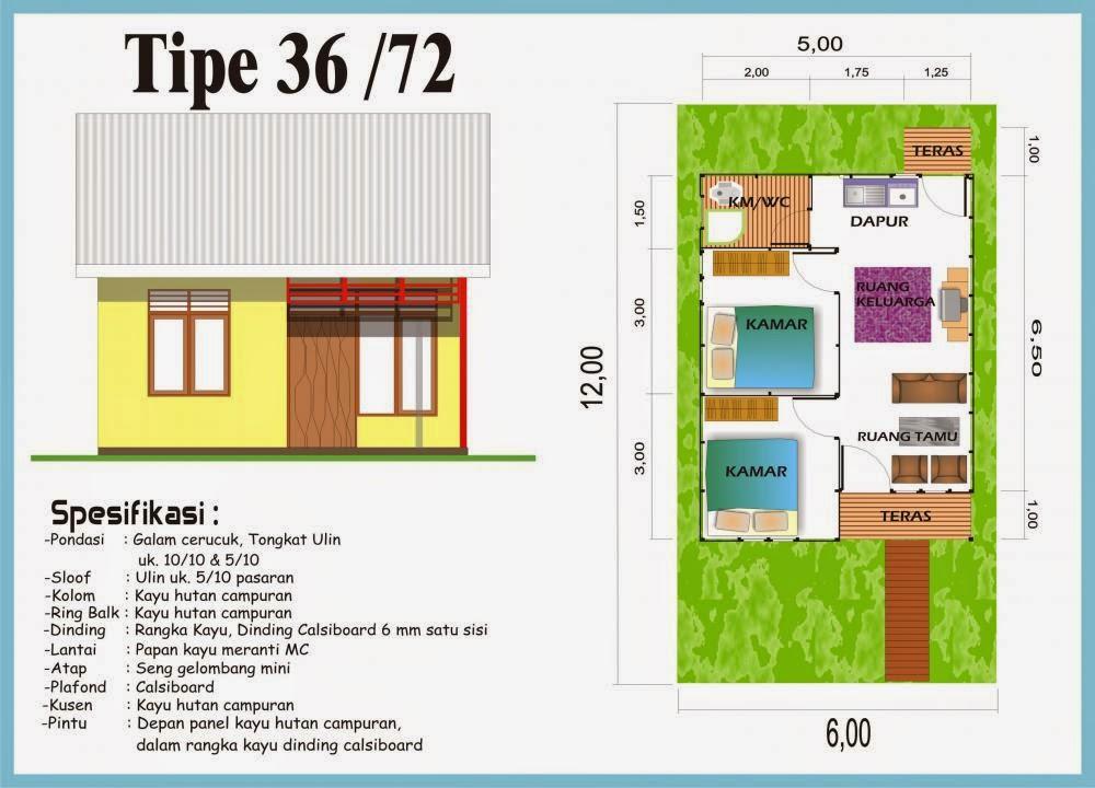 Denah Rumah Minimalis Type 36 Raja Disain Interior Khusus Pertemuan
