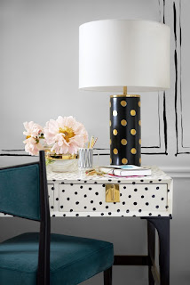 kate spade, home decor, polka dots