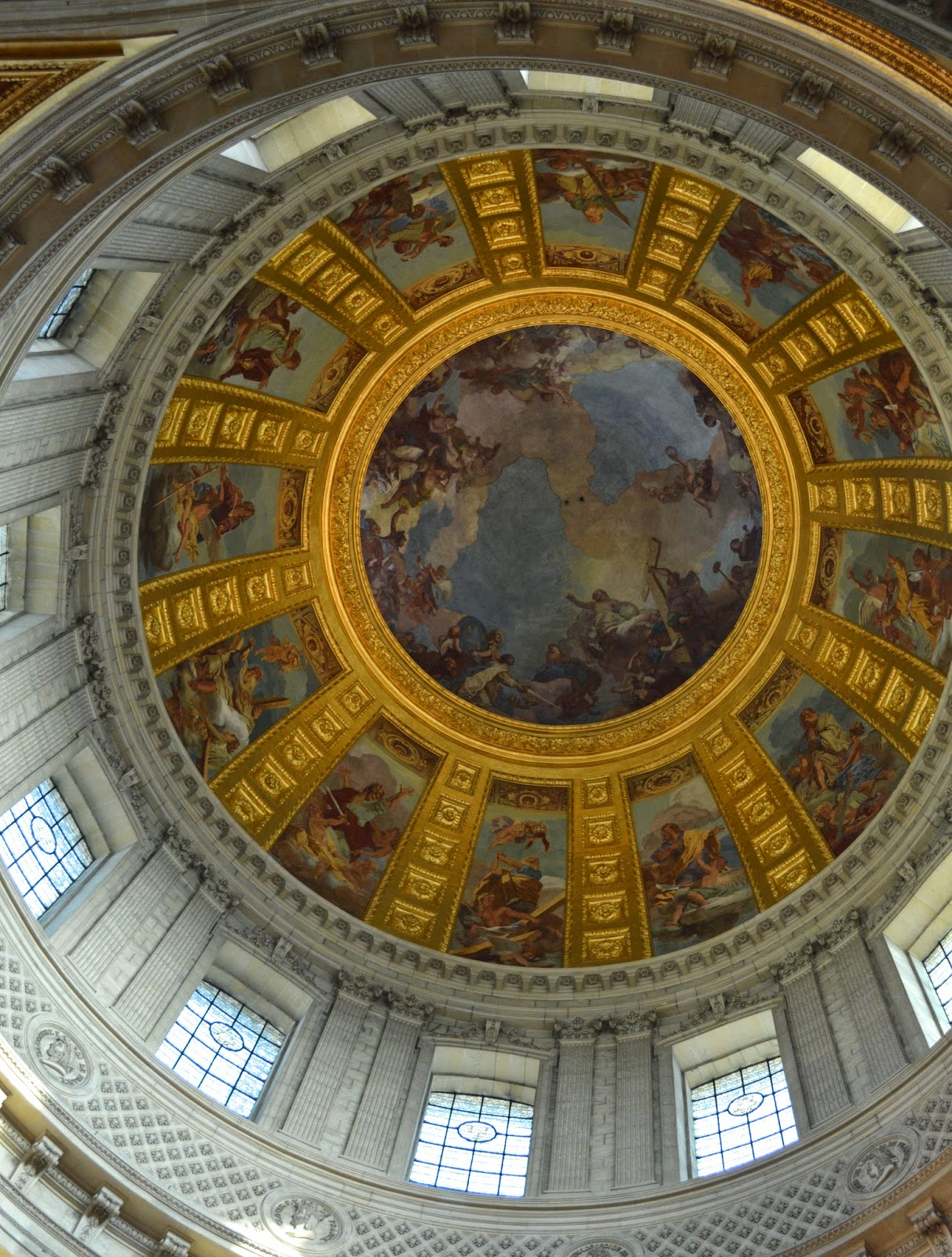 Les Invalides - The dome over the tomb of Napoleon