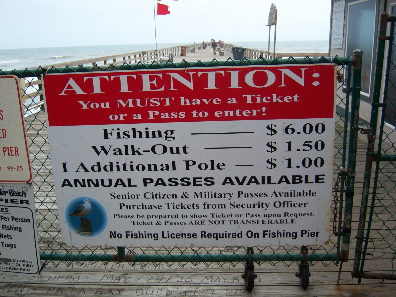 Flagler beach and fishing pier frugal florida fun for Do you need a fishing license on a pier