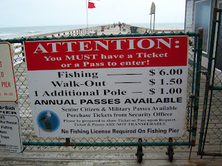 $6 for fishing, $1.5 For Walk Outs, $1 for additional pole