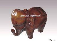 Patung Gajah Kayu Jati