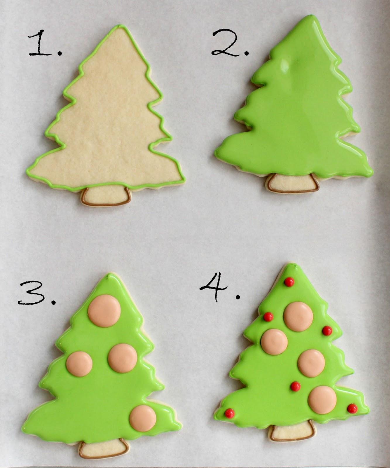 xmas tree cookies