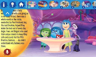 Screenshots of the Inside out: Storybook deluxe for Android tablet, phone.