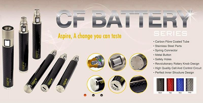 batterie ASPIRE CF VV, CF VV+ et G-Power