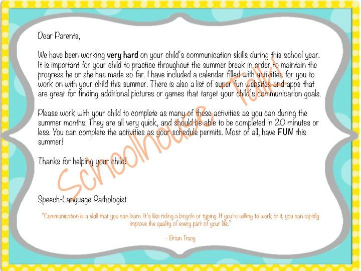 Homework Letter To Parents
