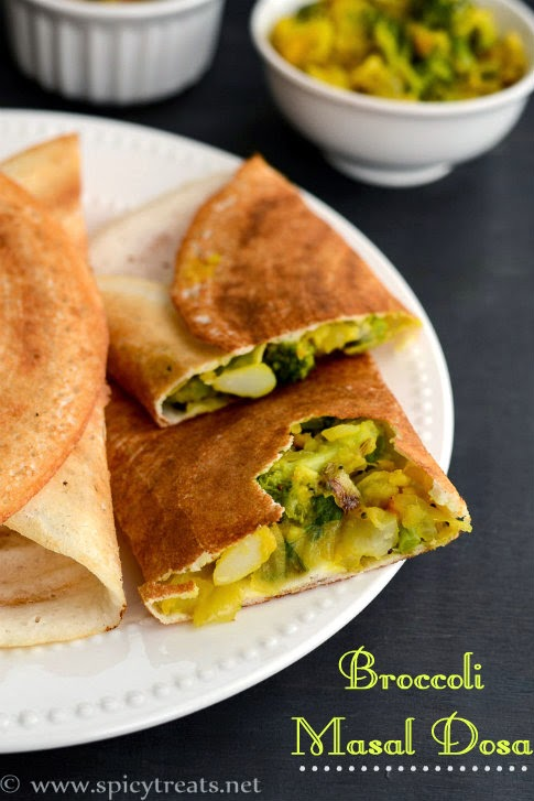 Broccoli Masala Dosa
