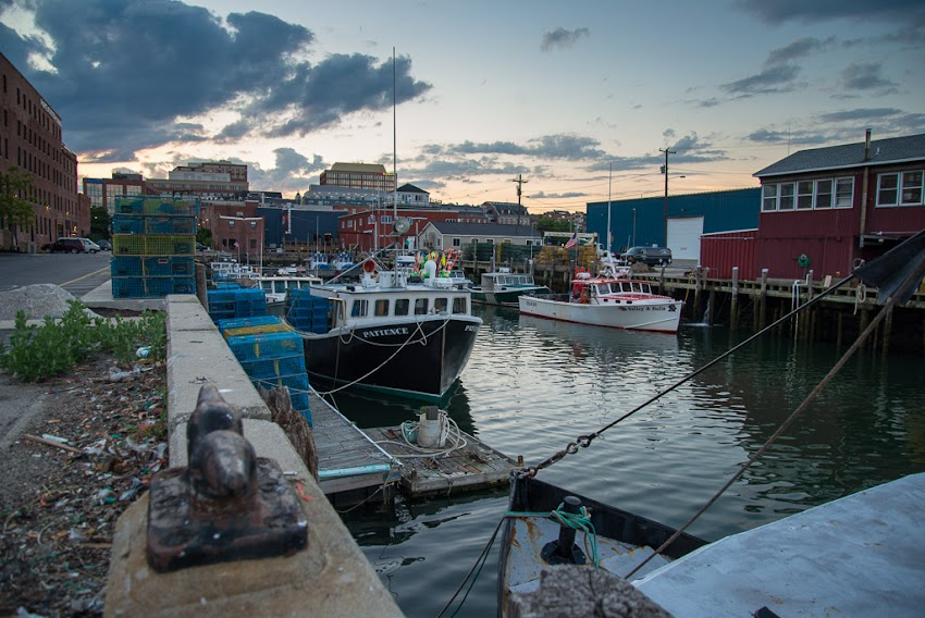 Portland, Maine USA June 2015 view from Merrill's Wharf at sunset. Photo by Corey Templeton.