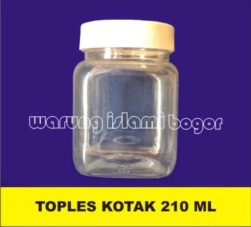 Jual Botol Toples Kotak 200ml
