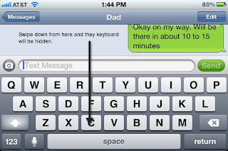 iPhone Tip  Hide the Keyboard