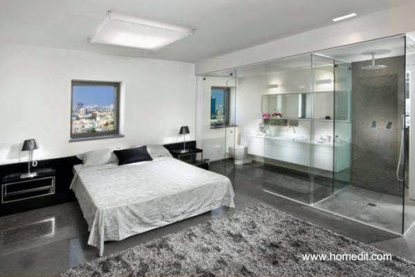 Dormitorio con ba o integrado pequeno for Dormitorio con bano