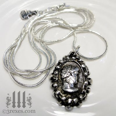 ghost cameo necklace